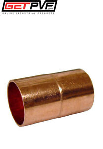 Bag Qty 25pcs 3 4 Copper Sweat Coupling Rolled Stop new