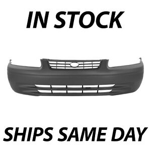 New Primered Front Bumper Cover Fascia Replacement For 1997 1999 Toyota Camry