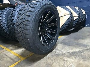 20x10 Fuel D615 Contra Black Toyo Rt Wheels Rims Tire 6x135 Ford Expedition