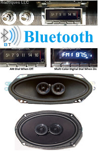 1961 1962 Conv Cadillac Bluetooth Stereo Radio Am fm Front Rear Speakers 740