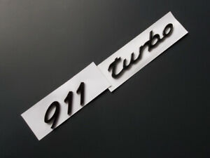 911 Turbo Black Emblem Badge For Rear Of The Porsche Tailgate Wing