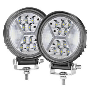 4in 288w Round Led Work Lights Spot Backup Driving Headlight Offroad Suv Atv 4x4