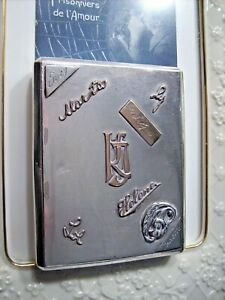 Antique 1936 Russian Solid Silver 84 6 Solid Gold Signatures Cigarette Case