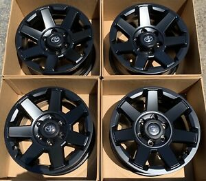 17 Toyota 4runner Fj Cruiser Oem Factory Satin Black Wheels Rims 75154 2017