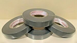 4 rolls Cloth Duct Tape 1 X 180 Silver Waterproof 8 5 Mil Thickness Usa Made