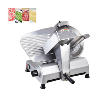 New 10 Blade Commercial Meat Slicer Deli Meat Cheese Food Slicer Industrial
