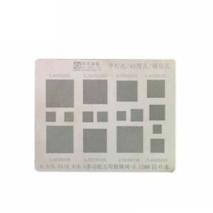 16 In 1 0 3mm 0 4mm 0 5mm Steel Bga Reballing Stencil Directly Heat Stencils
