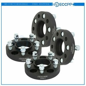 Eccpp 4 Pcs 1 25mm 5x4 5 14x1 5 Studs Wheel Spacers Black For Ford Mustang