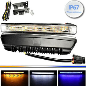 Driving Lamp Drl 54 Led 3 Color Turn Signal Daytime Running Light For Toyota