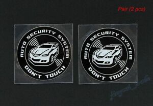 Pair 2 Pcs Don T Touch Auto Security System Logo Car Auto Suv Sticker Decal