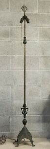 Antique Vintage Exco 424 Cast Iron Brass Bronze Art Deco Modern Floor Lamp