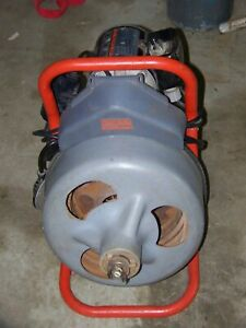 Ridgid K 375 Drain Cleaning Machine With 2 New Spare 75 Cables