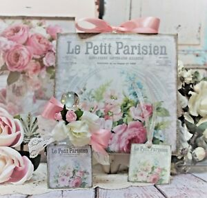 Shabby Chic Vintage Paris Decorative Perfume Type Bottle Wall Sign French Label
