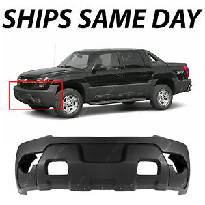 Textured Charcoal Front Bumper Cover For 2003 2006 Chevy Avalanche W Cladding