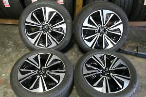 Set Of 4 Honda Civic 2016 2017 17 Oem Rims Tires 215 50 17 Tba17070a 64098