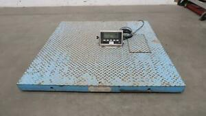 Weigh tronix Dsl4848 05 Iq 390 dc Platform Floor Scale Digital Weight Indicato