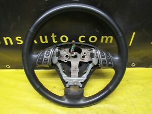 2007 2009 Mazdaspeed3 Ms3 Turbo 2 3l Oem Black Leather Steering Wheel