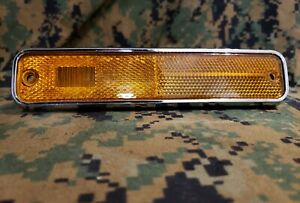 1971 1974 Amc Amx Javelin Sst Amber Front Fender Side Marker Light Oem Nos