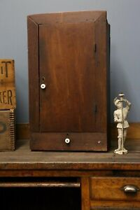 Antique Vintage Medicine Apothecary Spice Wall Hanging Countertop Cabinet Wood