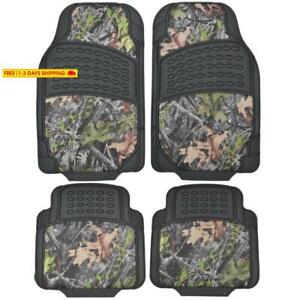 Bdk Camouflage 4 Piece All Weather Waterproof Rubber Car Floor Mats Fit Most C