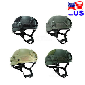 Airsoft Tactical Hunting MICH 2002 Combat Helmet with Side Rail amp; NVG Mount USA $30.59