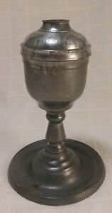 Good Early American Pewter Whaleoil Lamp