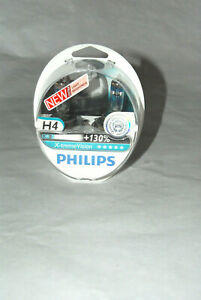 New Philips X Treme Vision 130 H4 Headlight Bulbs Twin Pack 12342xv S2 1650 Lm