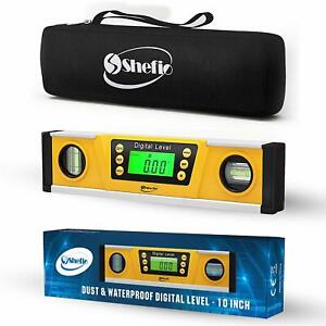 Digital Magnetic Level Tool 10 Inch Torpedo Level And Protractor ip54 Dustproof