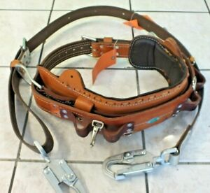 Bashlin Industries No 88 Utility Pole Climbing Size D21 Leather Lineman Belt