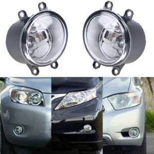 Pair Fog Light Assembly Amber Lamp Bulb Fast Shipping For 2010 2014 Toyota Prius