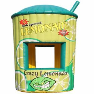 5m Pvc Inflatable Lemonade Concession Stand Booth Juice Sales Kiosk Drink Tent