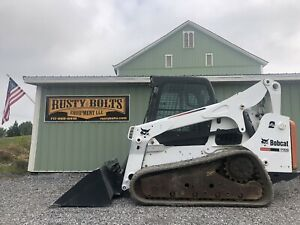 2012 Bobcat T750 Track Skid Steer Loader Heat Ac high Flow Low Cost Shipping