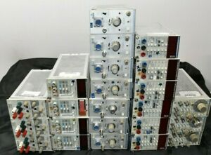 Tektronix Plug In Modules Lot 3 fg501a 4 dm502a 2 dm501a 7 am503a 4 dm504a Ps503