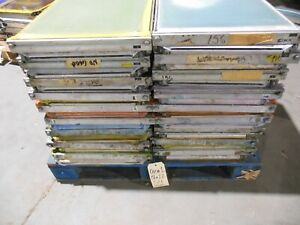5 Newman Roller Frame Screens Gen 1 Used Size 18 X 22 Misc Mesh Counts