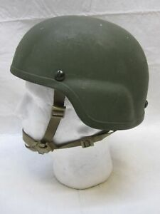 MSA MICH MADE W KEVLAR ACH TACTICAL COMBAT HELMET MEDIUM 8470-01-506-6369 Green