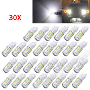 30pcs White 3157 3457 3057 Signal 33smd Backup Reverse Tail Turn Led Light Bulb