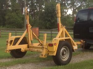 2007 Jtc Hydraulic Cable Trailer Caddy Reel Trailer Fiber Cable Carry Solar