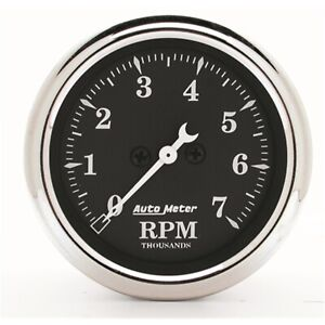 Autometer 1797 Old Tyme Black Electric Tachometer