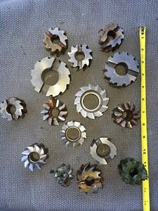 Lot Of 15 Horizontal Mill Milling Cutters