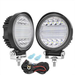 4in 288w Round Led Work Lights Spot Backup Driving Headlight Offroad Suv wiring