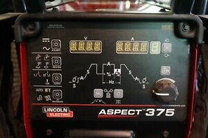 Lincoln Aspect 375 Ready pak Ac dc Tig Welder k3946 2 Used Only 5 Hours