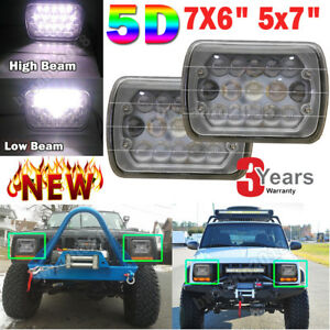 New 5d 7x6 5x7 105w H6054 Sealed Beam Led Headlights X2 For Toyota Pickup Truck