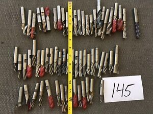 Lot Of 60 1 2 1 2 End Mills Flute Mill Nose Cutter Roughing Mix