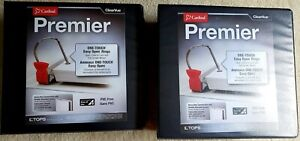 2 X Cardinal Premier Easy Open 3 ring Binder 5 One touch Easy Open
