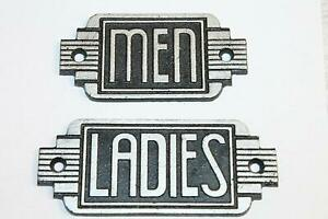 Vintage Style Ladies Men Restroom Signs Cast Iron Gas Station Garage Man Cave