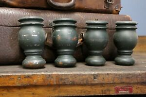 Cast Iron Furniture Legs Industrial Peg Legs Green Vintage Antique Coffee Table