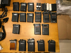 Lot Of Motorola Saber Handheld Radios Housings Belt Clips Vhf Uhf Ham Scanner