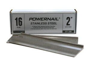 Powernail Stainless Steel 16 ga Floor Cleats 2 Long 1000 Nails Per Box