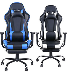 High Back Leather Office Chair Executive Office Desk Task Gaming Computer Chair