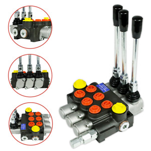 3 Spool Hydraulic Directional Control Valve 13gpm Adjustable Relief Valve